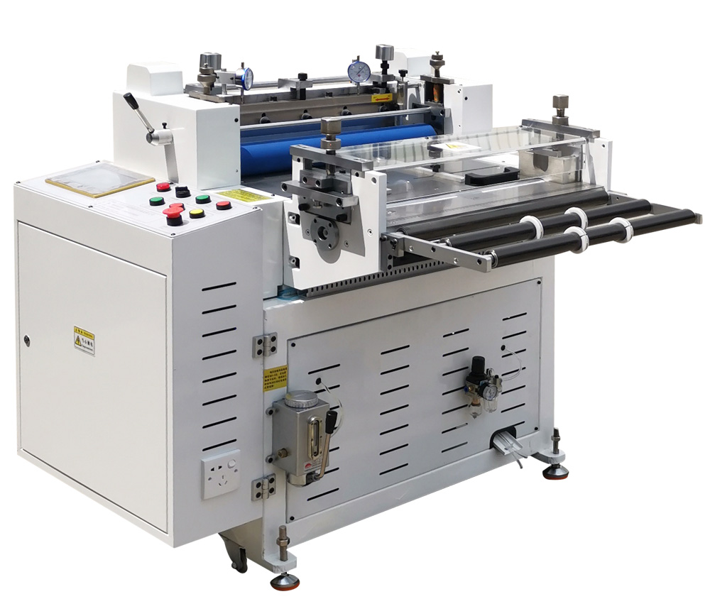 Coil cutting machine with half - break strip